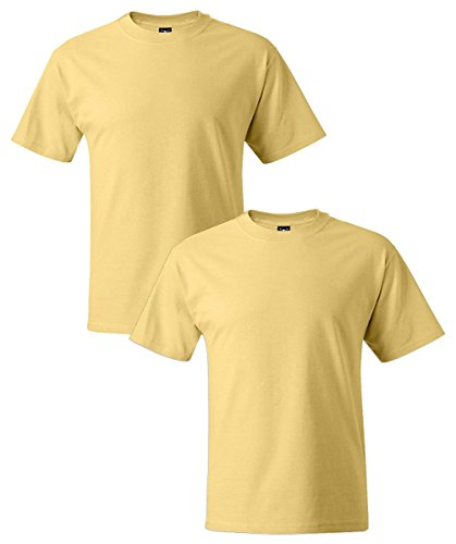 Hanes Men's Short Sleeve Beefy-T, daffodil yellow, Medium (Pack of - Hanes Outlet Store