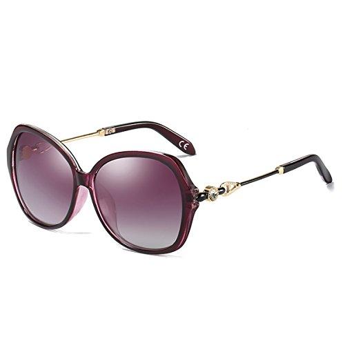 UV400 Protection de Femme Purple Diamant Lens Lunettes BE005 Polarisées Soleil Poids de Purple Grande BLEVET Décoration Léger Frame qw0EIY0