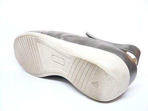 Sandalia mujer piel combinada marca DOCTOR CUTILLAS color Beige-Trento PLANTILLA EXTRAIBLE - 53651 - 84 Beige