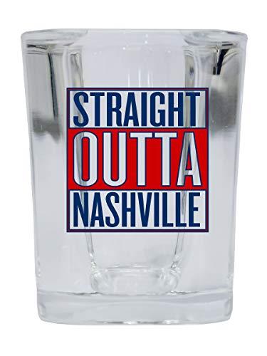 Nashville Tennessee Music City Trendy Souvenir Square Shot Glass