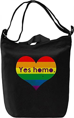 Yes Homo Borsa Giornaliera Canvas Canvas Day Bag| 100% Premium Cotton Canvas| DTG Printing|