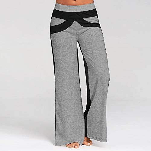 3b64e2d905 Ancha Mujer Cosiendo Pantalones Casuales Pierna Sylar S Yoga De Gris Estirar  Deportivas Rayas xl Suelto ...