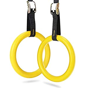 Well-Being-Matters 41QdQOtd%2BTL._SS300_ YISSVIC Gymnastic Rings Pull Up Rings Bodyweight Workout and Strength Training Olympic Non Slip Rings with Adjustable…
