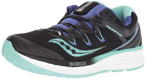 Saucony Women's Triumph ISO 4 Sneaker, Black/Aqua/Violet, 095 M US ()