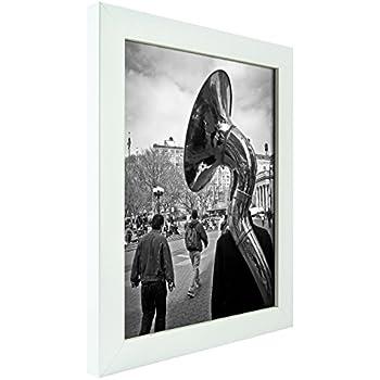 Amazon.com - ArtToFrames 22x34 inch Satin White Frame Picture Frame ...