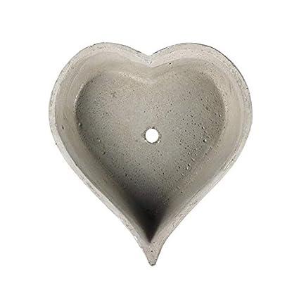 Nicole Silicone Mold Planter Concrete Flowerpot Mould Heart Shape with Bird Craft Cement Garden Decoration Tool