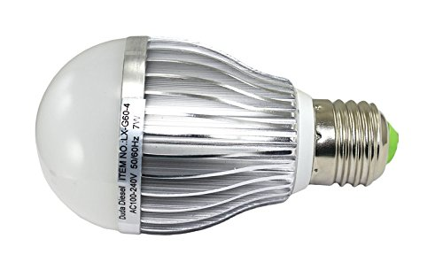G60-4 LED Light Bulb 7 Watt 560 Lumens 140° 50w Equivalent 100-240v AC 50/60 Hz E-26 30000+ Hour Aluminum 2 Year Warranty (Thermal 560)