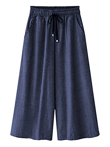 Drawstring Cropped Jeans - 3