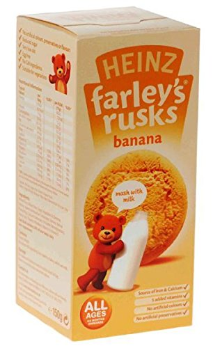 6 x Farleys Rusks Banana Reduced Sugar 150g Heinz