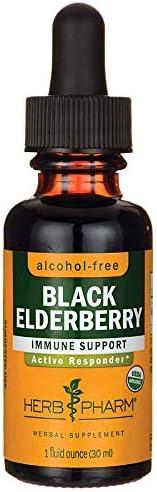 Herb Pharm, Black Elderberry Glycerite Organic, 1 Fl Oz