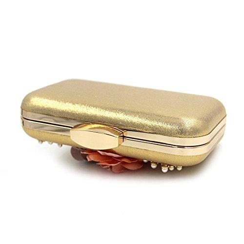 La Soirée Fête D'Embrayage Perlé Banquet De Sac De Haut WenL Gold De pour Dames De De Noël Sac OEAxSwqp