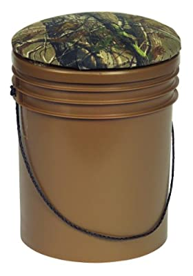 Wise Outdoors Premium Dove-Sport Bucket Hunting Seat with Insulated Cooler, Brown/Break-Up Camouflage