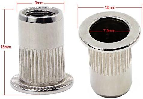 Amazon.com: OCR Zinc chapado en acero de carbono remache de ...
