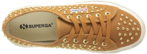 Superga 2750-COTWDSTUDS WT S0072Y0 - Zapatos bajos de tela para mujer Amarillo (925 Ocra)