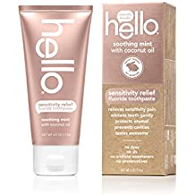 Hello Oral Care Sensitivity Relief Toothpaste, Soothing Mint with Coconut Oil, 4 Ounce
