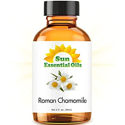 Organic Chamomile (Roman) (2 fl oz) Essential Oil 100% Pure -- Best 2 ounces (59ml) -- Sun Organic by Sun Organic