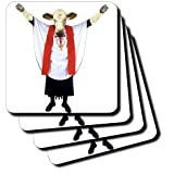 3dRose cst_13881_1 Holy Cow-Soft Coasters, Set of 4