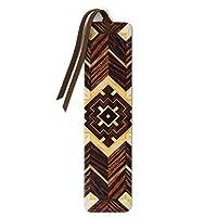 Wooden Bookmark with Tassel - Craftsman Pattern 02 Design by Mitercraft