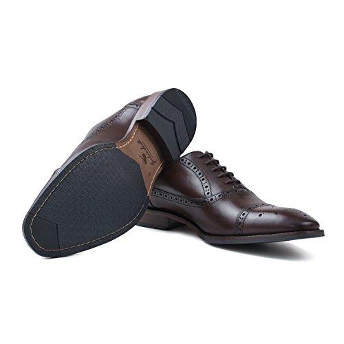 Goodwin Smith Ealing Brogue Zapatos Oxford Con Cordones Para Hombre Marrón