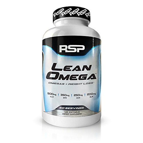 RSP LeanOmega Fish Oil CLA Capsules, High EPA & DHA Omega-3 + CLA for Heart Health, Joint Support & Weight Management Support, 120 ct ()