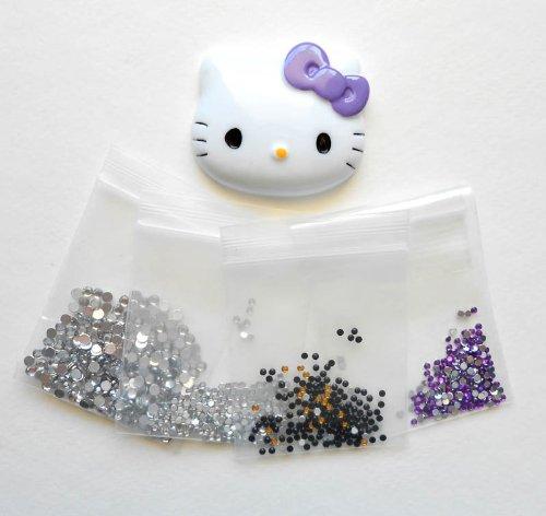 LOVEKITTY DIY 3D Bling Purple Bow Kitty Face