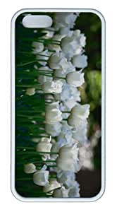 iPhone 5S Customized Unique Landscape Flowers White Tulips 3 New Fashion TPU White iPhone 5/5S Cases