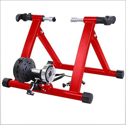 自転車トレーナーブラケット、自転車ブラケット、ワイド8レベルのレジスタンス/クイックリリース前輪ブロックとサイレント固定ポータブル