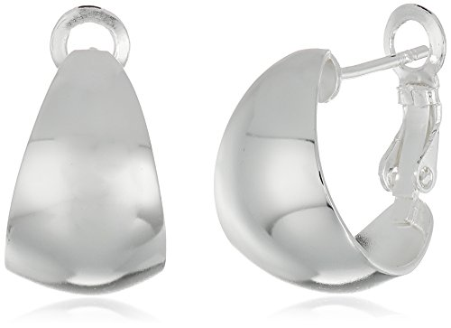 Sterling Silver 18 X 11 Mm Polished Wide Graduated Paddle Back Hoop Earrings