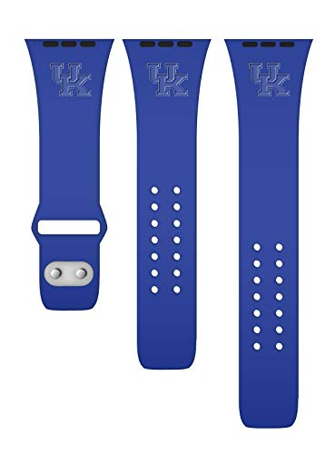 Affinity Bands Kentucky Wildcats Debossed Silicone Band Compatible with The Apple Watch - 38mm/40mm ()