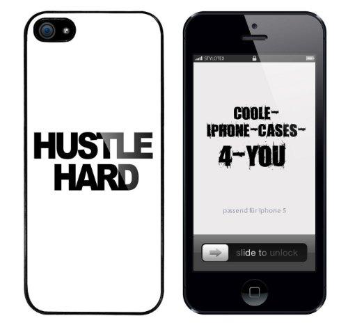 Iphone 5 / 5S Schutzhülle Hustle Hard - schwarzer Rahmen
