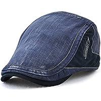 Topshion Men & Women New Flat Cap Peaked Hat Golf Beret Gentlemen Denim Duckbill Hats
