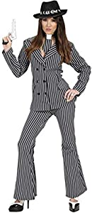 Gangster Costumes & Outfits | Women's and Men's Ladies Gangster Woman - Costume Small Uk 8-10 For 20s 30s Mob Capone Bugsy $54.09 AT vintagedancer.com