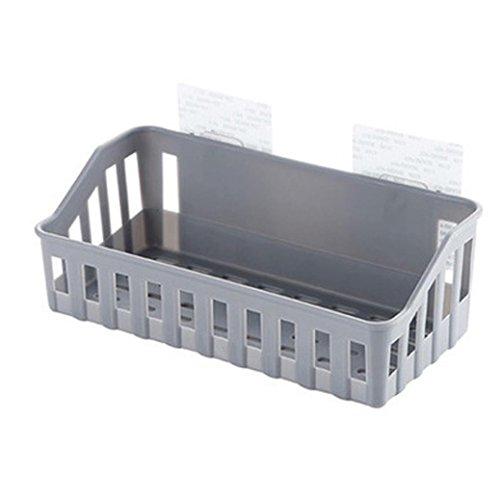 (Loneflash Shelf Basket,Office Desk Dormitory Bedside Hanging Storage Baskets Iron Mesh Origanizer Caddy with Hook (A))
