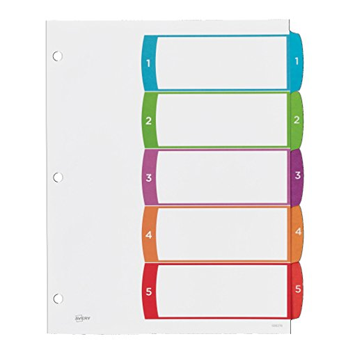 avery customizable table of contents dividers  5