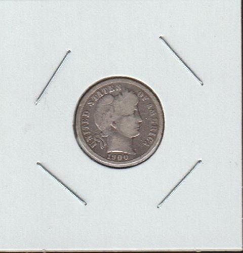 1900 Barber or Liberty Head (1892-1916) Dime Very Good