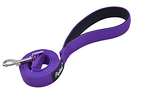 PUPTECK Dog Training Leash Durable Nylon Lead with Padded Handle for Pet Puppy, Purple ()