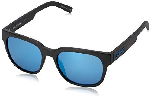 Lacoste Unisex L830S Rectangular Sunglasses, Matte Black, 53 ()