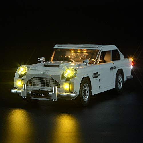LIGHTAILING Light Set for (James Bond Aston Martin DB5) Building Blocks Model - Led Light kit Compatible with Lego 10262(NOT Included The Model)