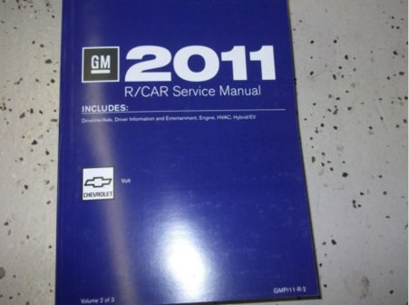 2011 CHEVROLET CHEVY VOLT Service Shop Repair Manual ENGINE HVAC DRIVELINE VOL 2