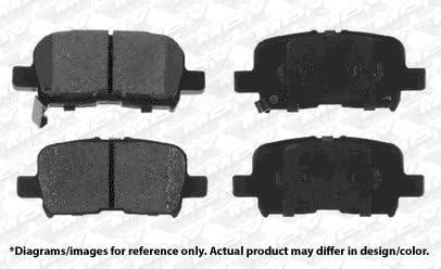 Max Brakes Rear Premium OE Rotors and Ceramic Pads Brake Kit KT019042-4