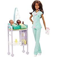 Barbie Careers Baby Doctor Doll Playset, Brunette