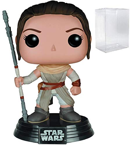 Star Wars: The Force Awakens - Rey Funko Pop! Vinyl Figure (Includes Compatible Pop Box Protector Case)