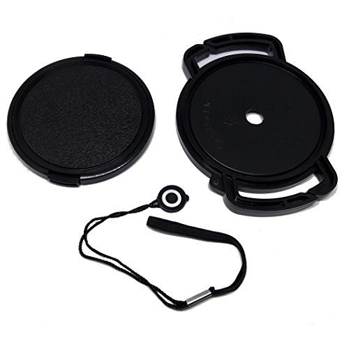 VIDPRO Slr Camera 77mm Lens Cap Bundle (3 pcs) + Strap Cap Keeper + Microfiber Cleaning (35 Mm Slide Cleaning)
