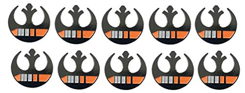 New Horizons Production Star Wars 10 of Each Style Classic Various Metal Enamel Pins (Black/Orange Rebel Pin)