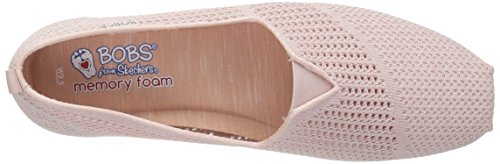Plush Lite Pink Flat Light BOBS Peek Women's Skechers Ballet Sz1nvqf