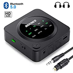 ➤➤【Product Specifications】: *Bluetooth Name:BOIROS *Bluetooth Chip: CSR8675, Bluetooth V5.0 *Battery Capacity: 450mAH *Working Time: RX>15H, TX average>17H *Charging Time: about 2H *Input Voltage/current: DC 5V *Working Range: about 33f...