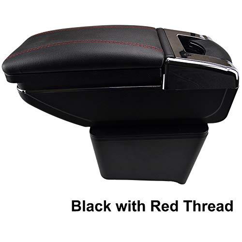 Rotatable Armrest For Polo 9N 9N3 Mk4 2002-2009 Black Thread Storage Box Arm Rest XUKEY