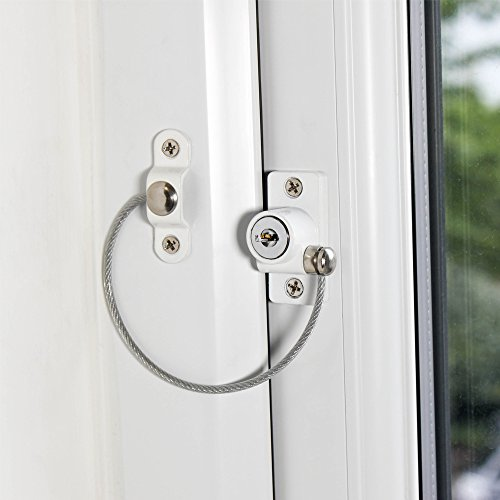 Cardea Essential Child Safety Cable Window Opening Restrictor Lock uPVC Suitable - 5 Pack by Cardea (Image #1)
