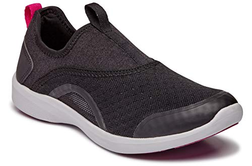Vionic Women's Sky Yvonne Slip-on - Ladies Walking Shoes with Concealed Orthotic Arch Support Black 7 M US
