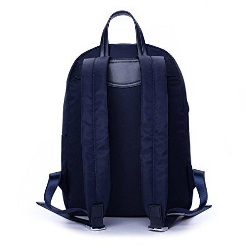 BUKUANG Hombro Mochila De Los Hombres Masculinos Casuales Oxford Bolsa De Estudiante De Paño Bolsa De Ordenador De Gran Capacidad Bolsa De Viaje De La Moda,Blue Black